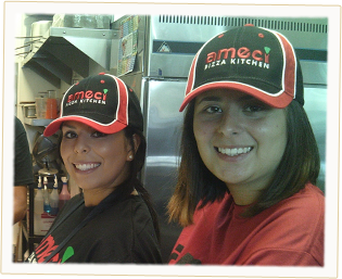 Today's team members working in Ameci's Pizza Kitchen - Part of our support system