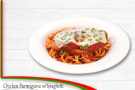 Chicken Parmigana with Spaghetti