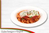 Chicken Parmigana with Spaghetti